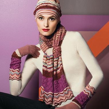 Шапочка, шарф, сумка и перчатки