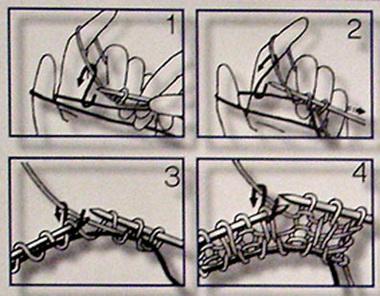 Спицы: итальянский способ набора петель