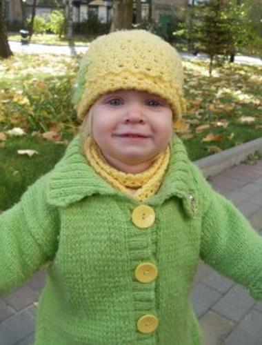 Шапочка и шарфик для девочки 3—5 лет