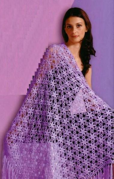 Размер шали