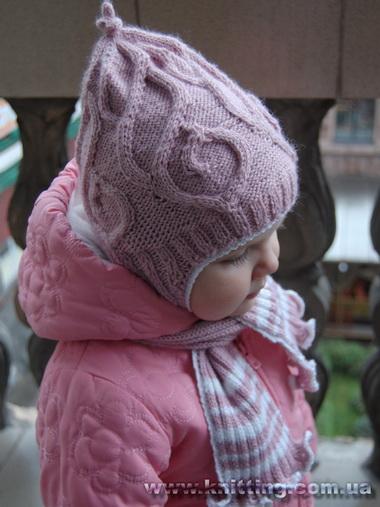 Шапочка «гномик» и двойной шарф