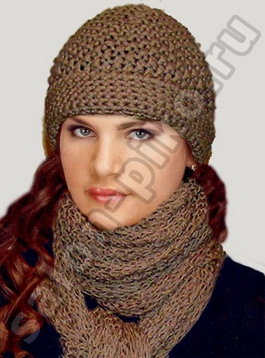 Ажурная шапочка и два шарфа