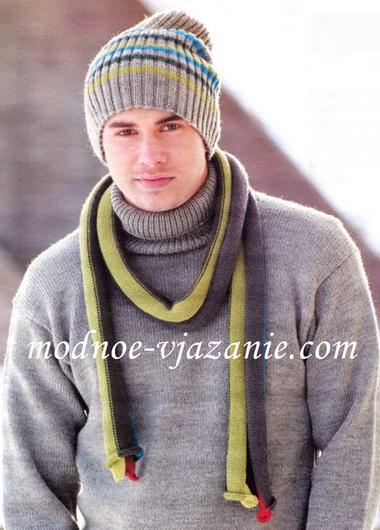 Спортивная шапочка с шарфиком