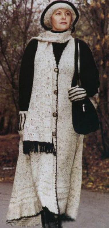Шляпа, шарф, перчатки и сумка