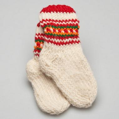 Вязаные носки.